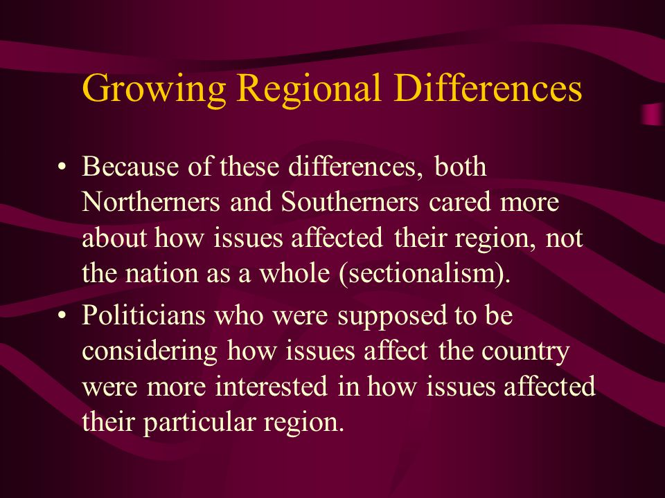 Growing Regional Differences