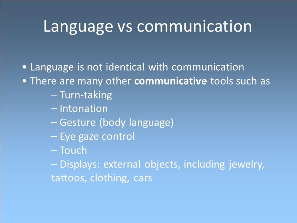 Language vs communication