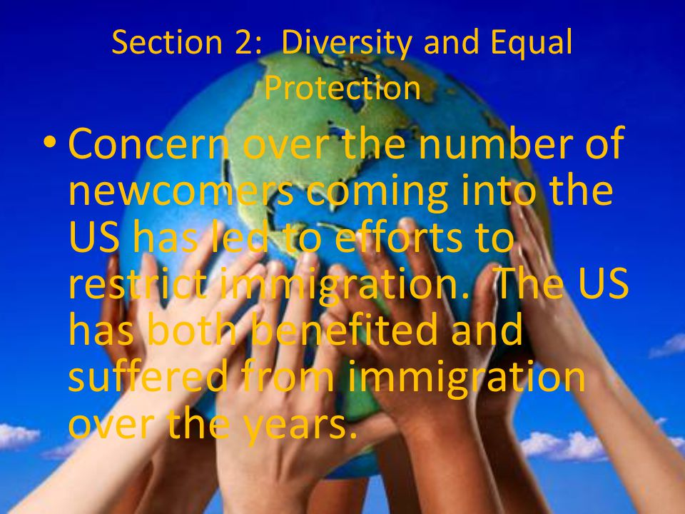 Section 2: Diversity and Equal Protection