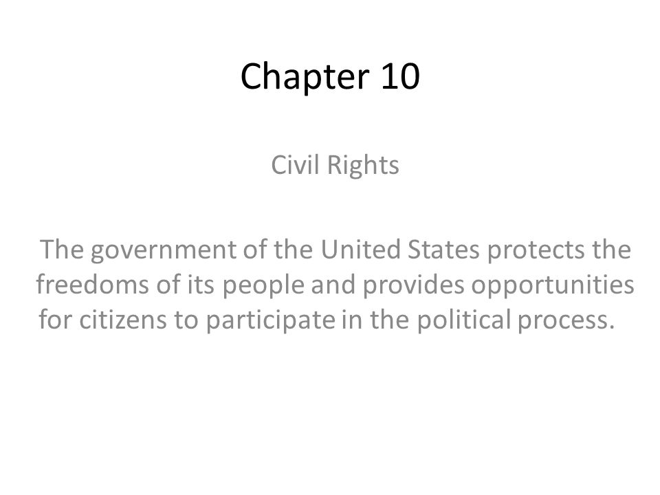Chapter 10 Civil Rights.