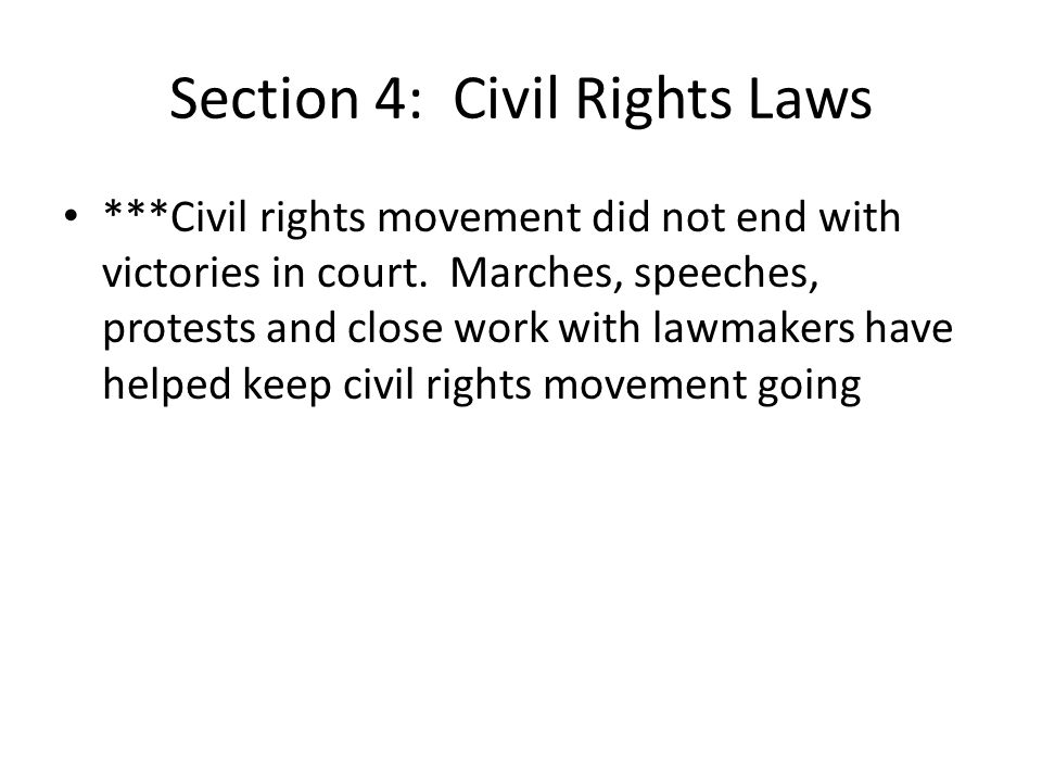 Section 4: Civil Rights Laws