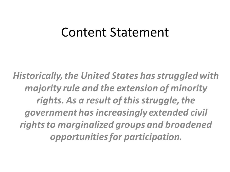 Content Statement