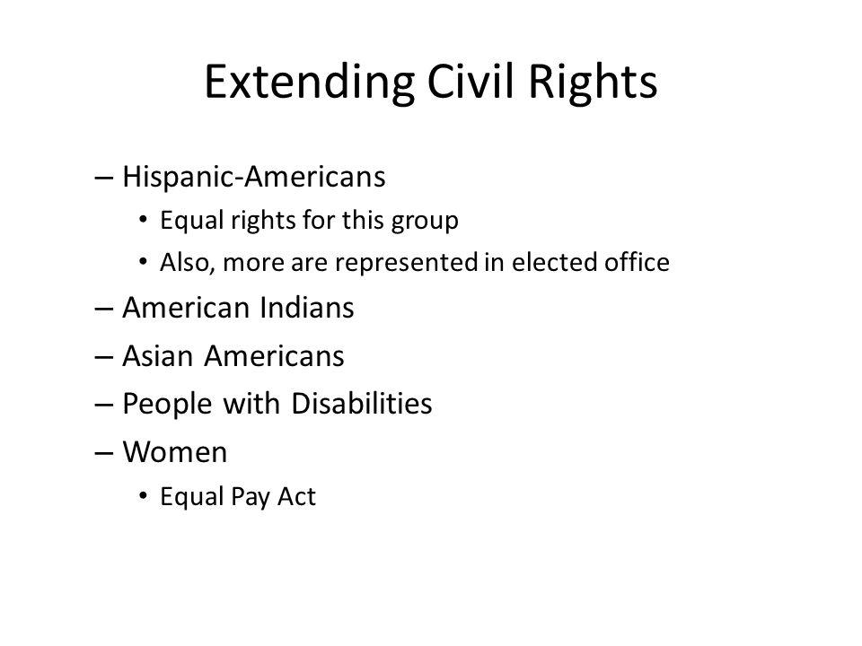 Extending Civil Rights