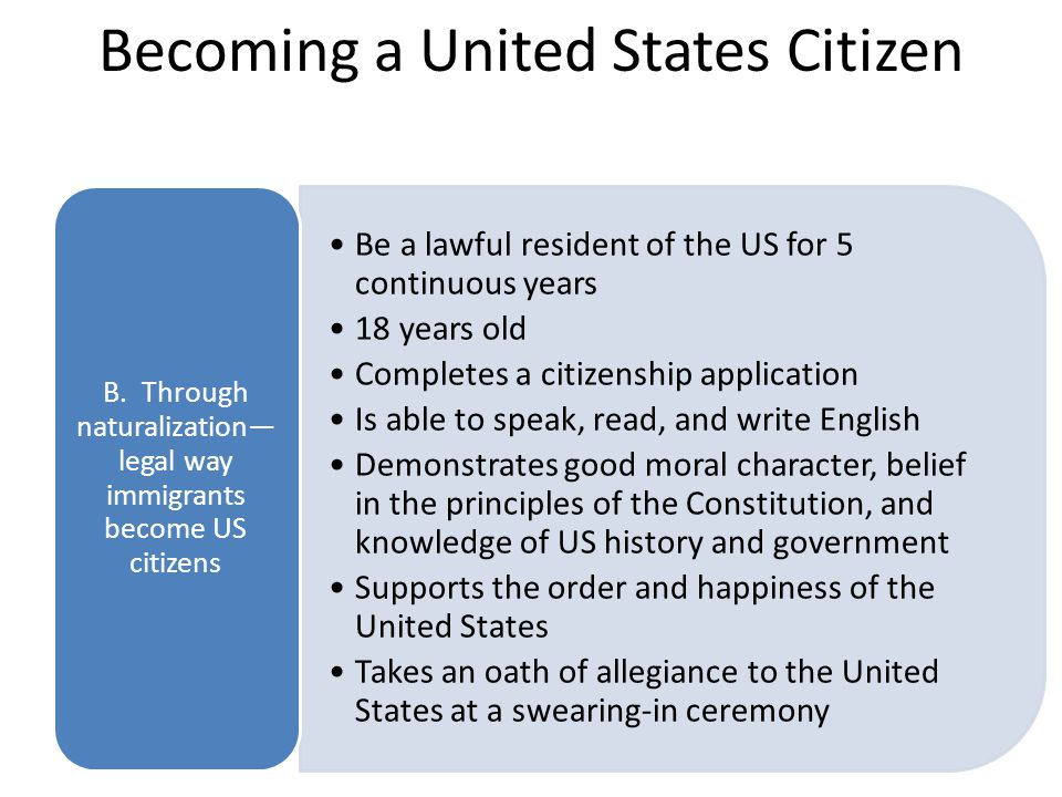 Becoming a United States Citizen