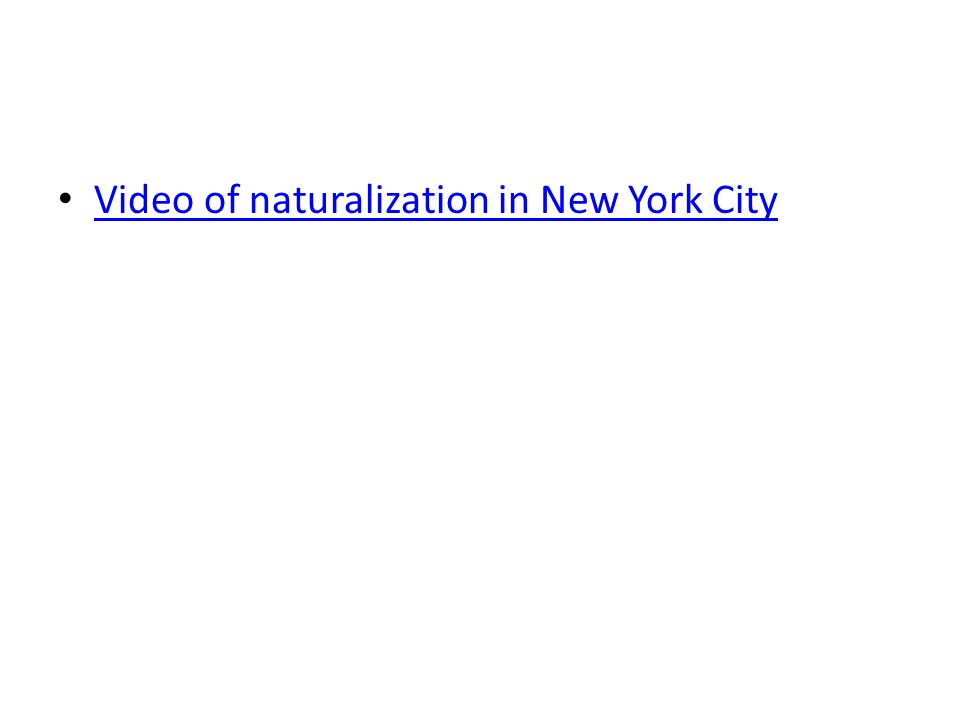 Video of naturalization in New York City