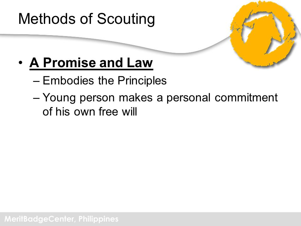 Methods of Scouting A Promise and Law Embodies the Principles