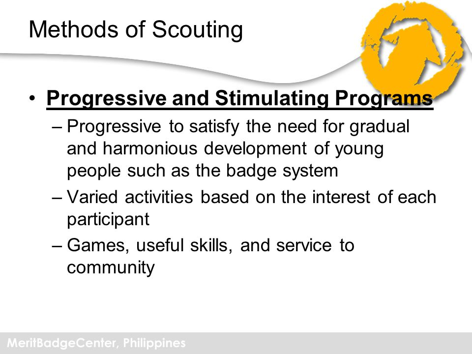 Methods of Scouting Progressive and Stimulating Programs