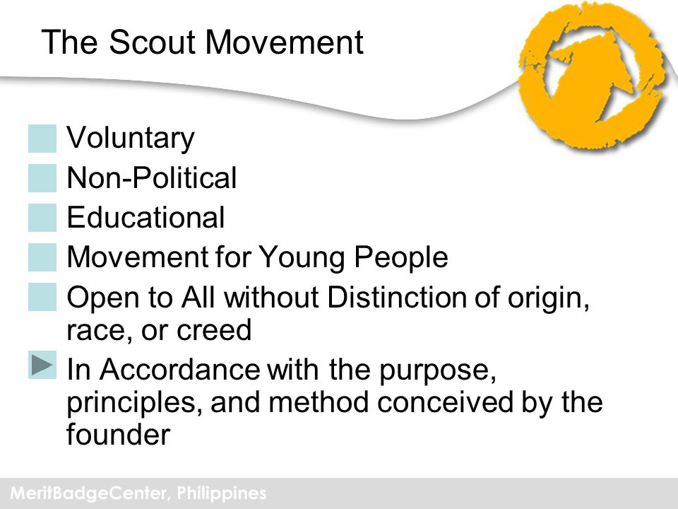 The Scout Movement Voluntary Non-Political Educational
