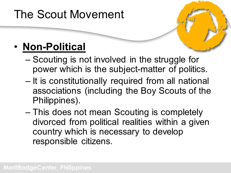 The Scout Movement Non-Political