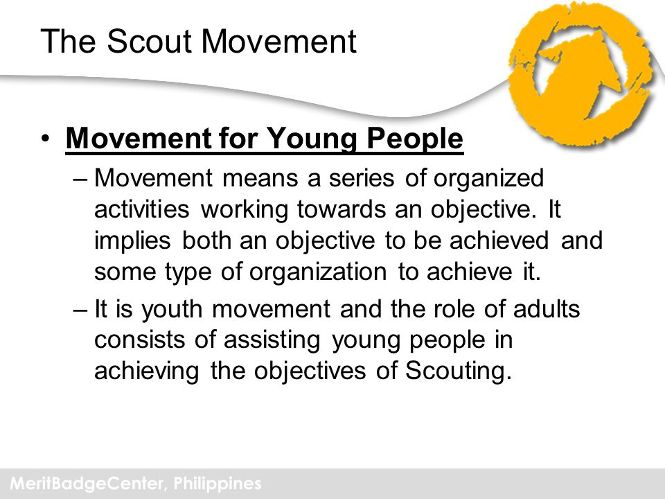 The Scout Movement Movement for Young People