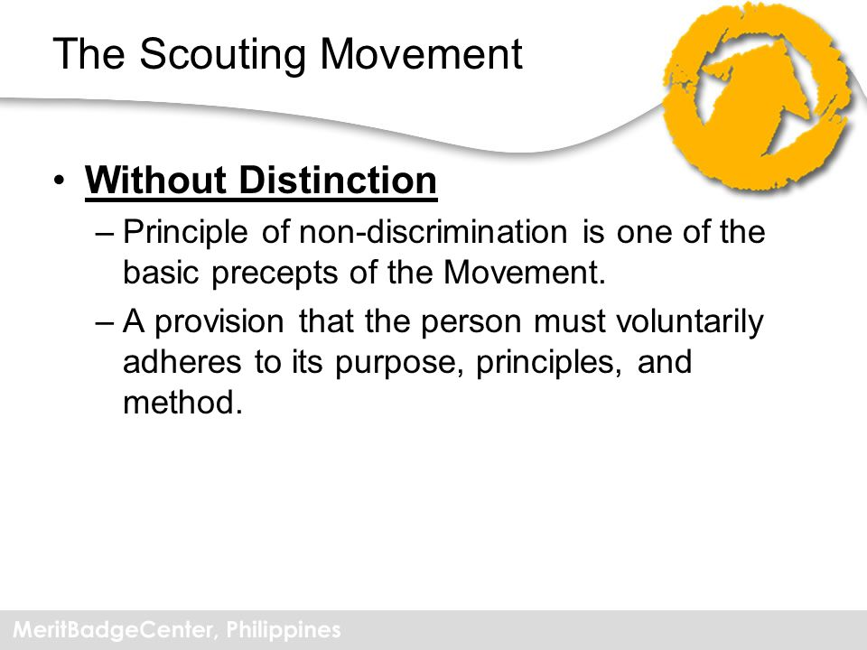 The Scouting Movement Without Distinction