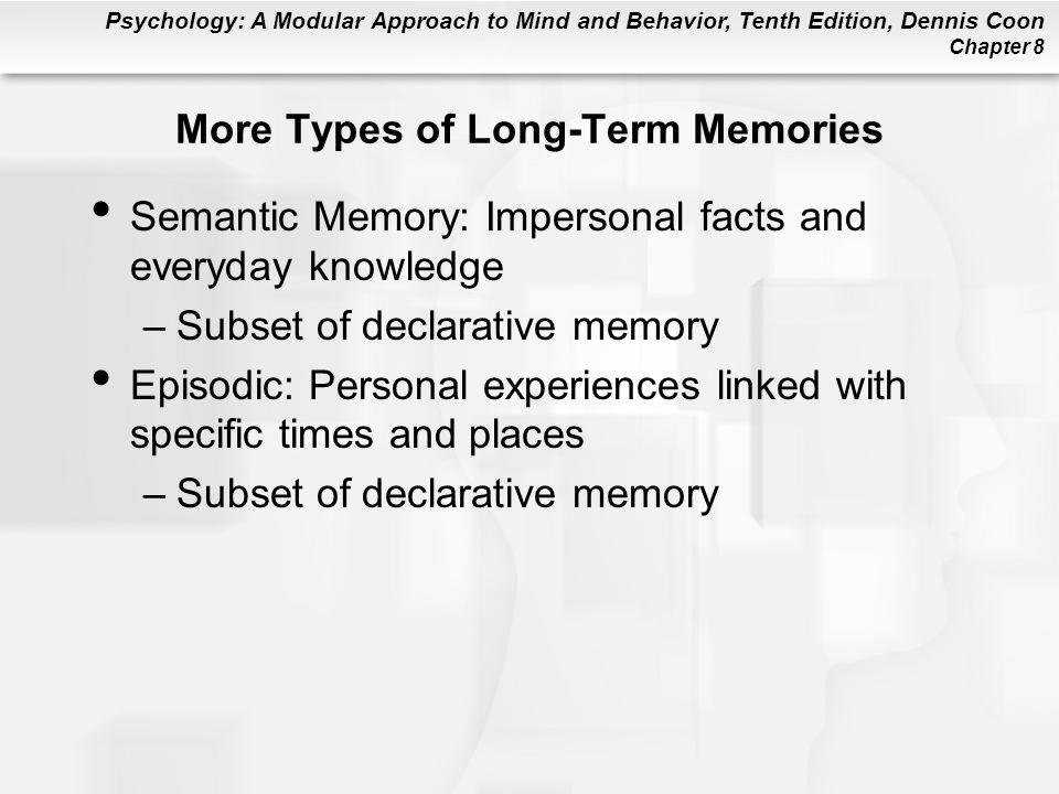 More Types of Long-Term Memories