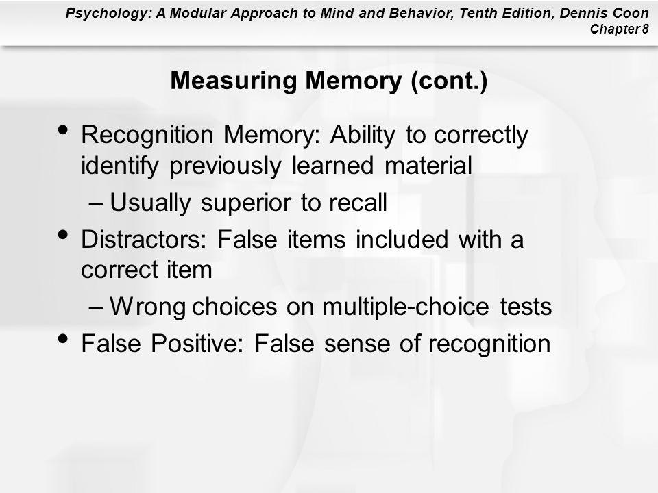 Measuring Memory (cont.)