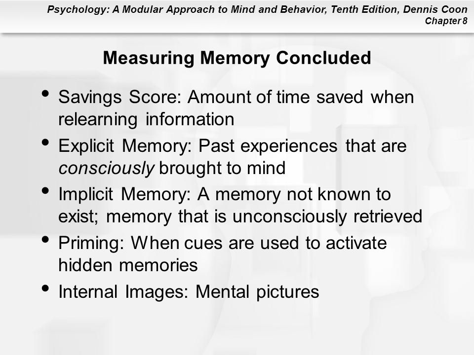 Measuring Memory Concluded