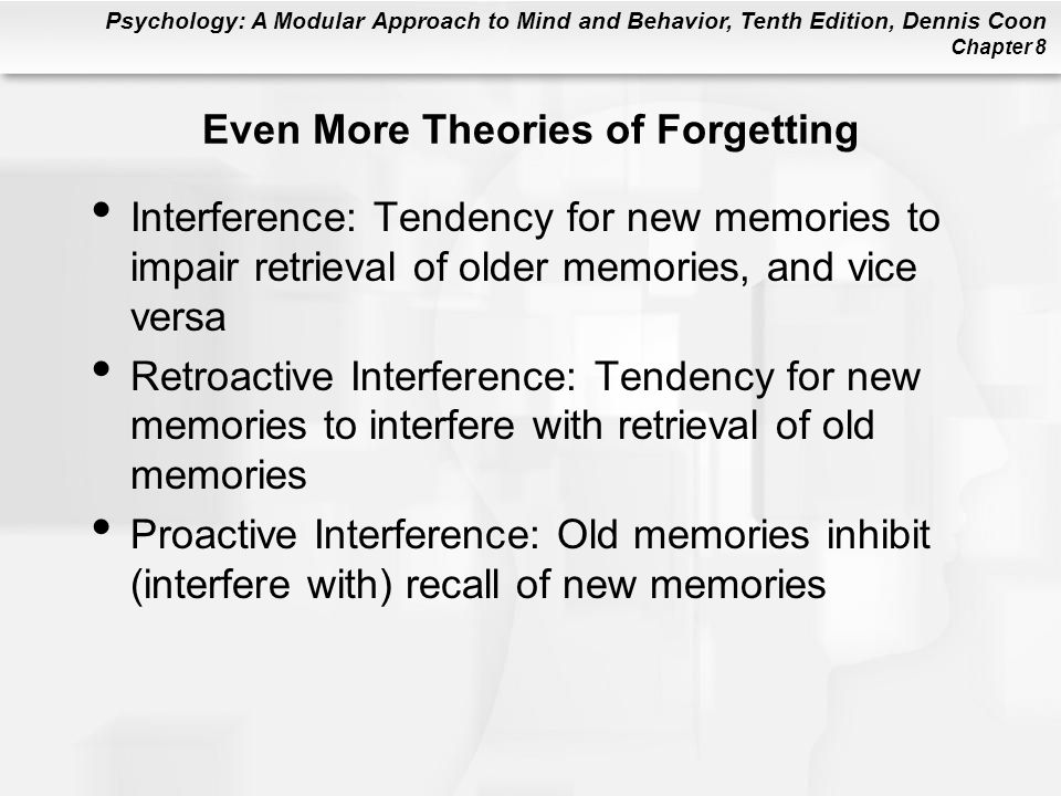Even More Theories of Forgetting