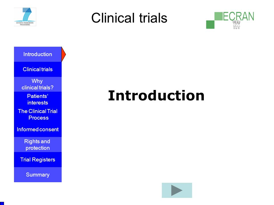 Clinical trials Introduction