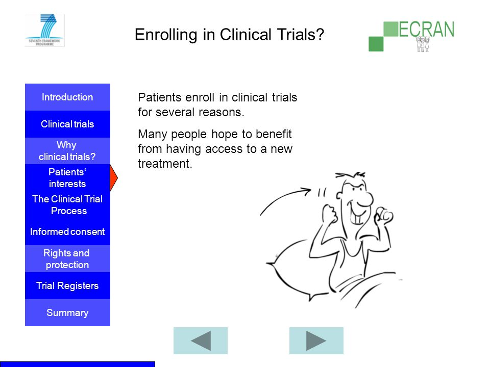 Enrolling in Clinical Trials