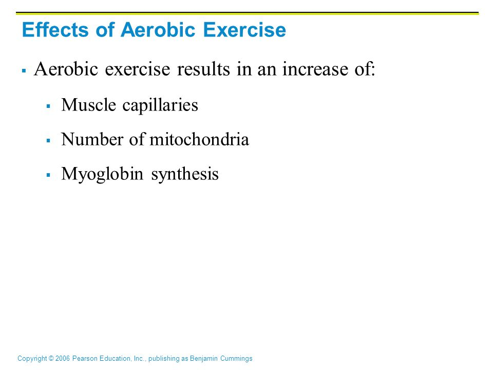 Effects of Aerobic Exercise