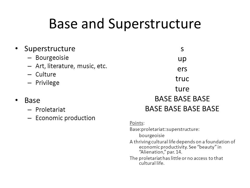 Base and Superstructure