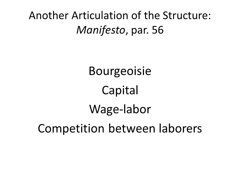 Another Articulation of the Structure: Manifesto, par. 56
