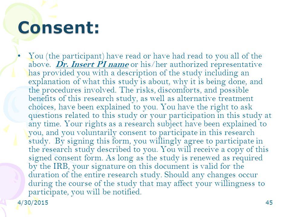 Consent: