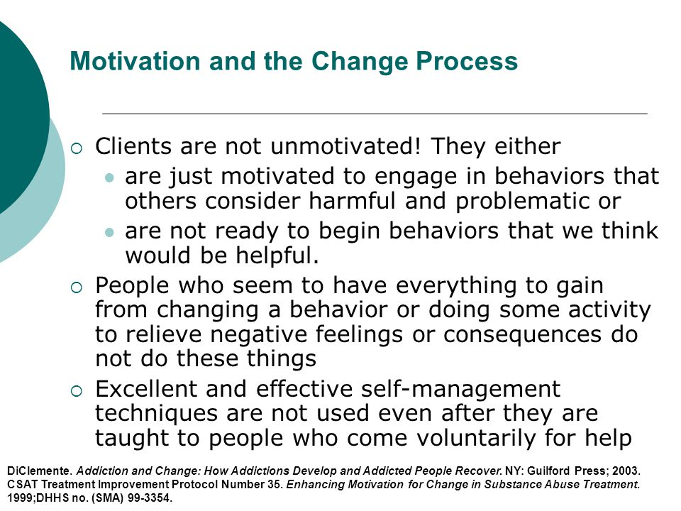Motivation and the Change Process