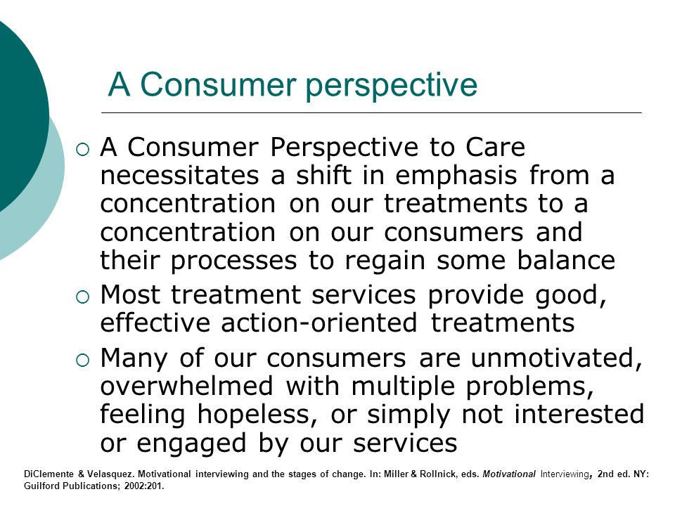 A Consumer perspective