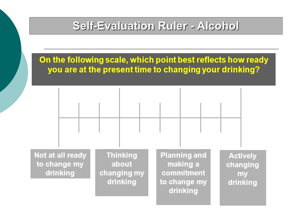 Self-Evaluation Ruler - Alcohol