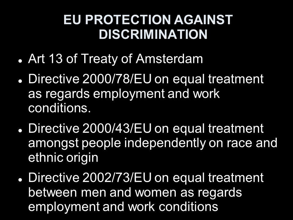 EU PROTECTION AGAINST DISCRIMINATION