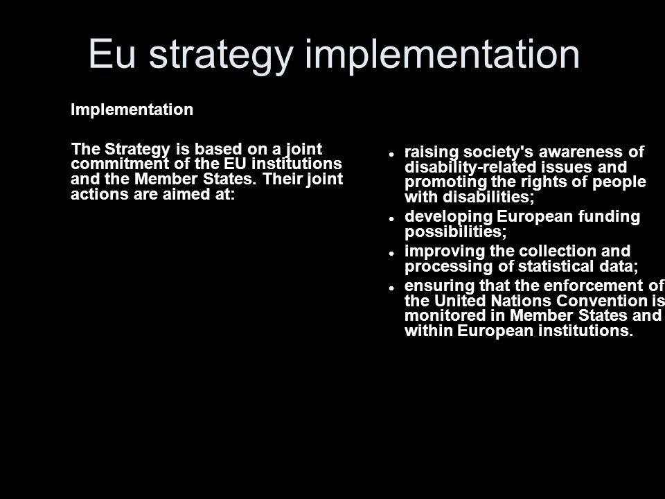 Eu strategy implementation