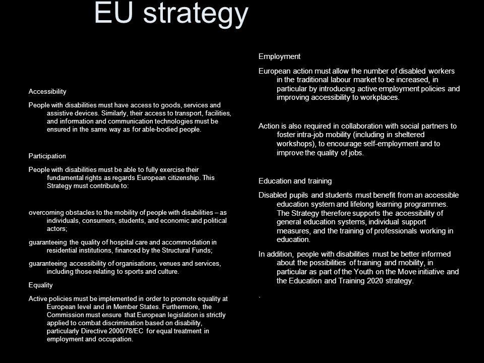 EU strategy Employment