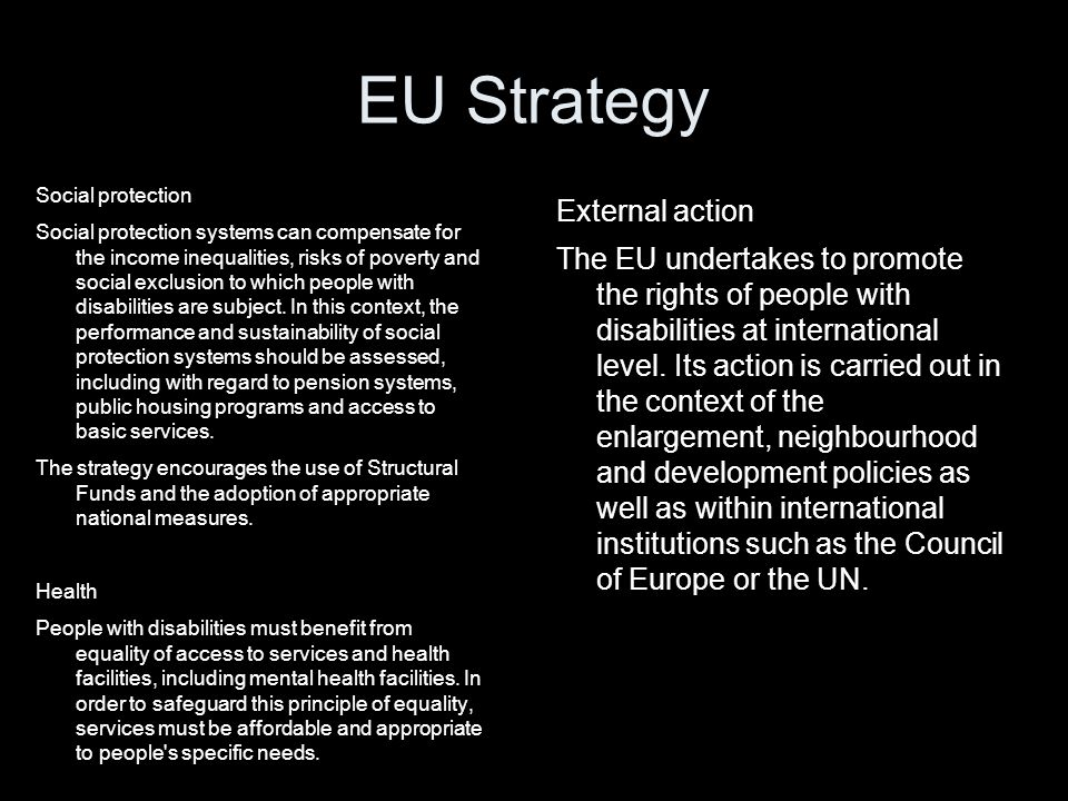 EU Strategy External action