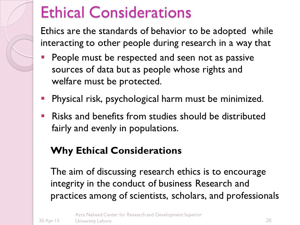 What Are Some Examples of Ethical Considerations?