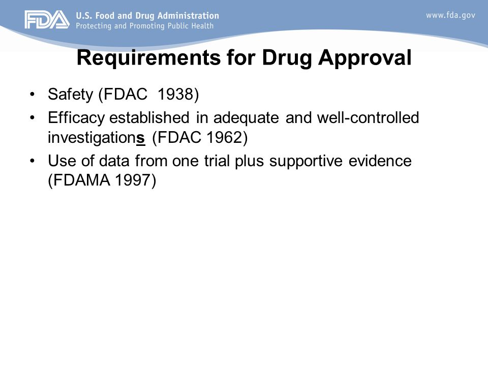 Requirements for Drug Approval