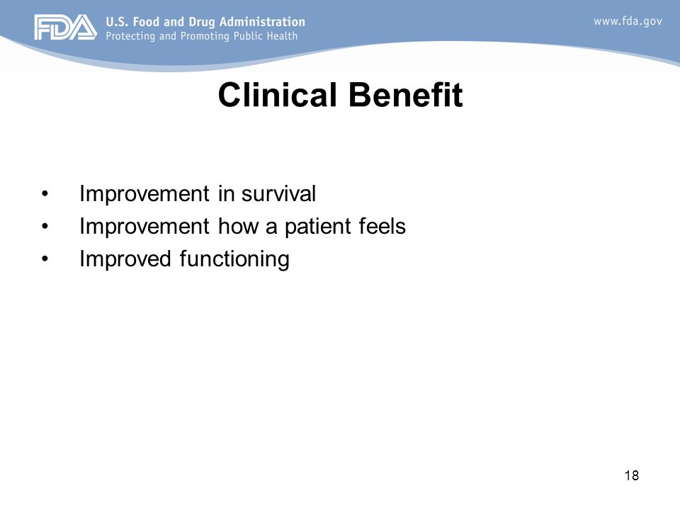 Clinical Benefit Improvement in survival