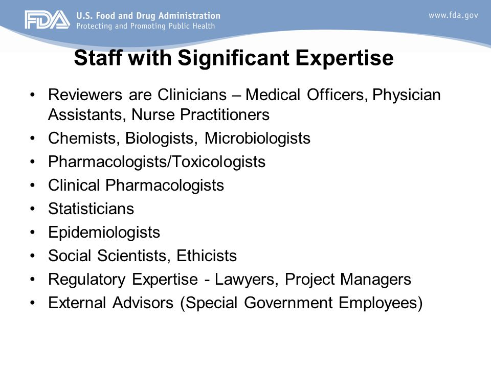 Staff with Significant Expertise