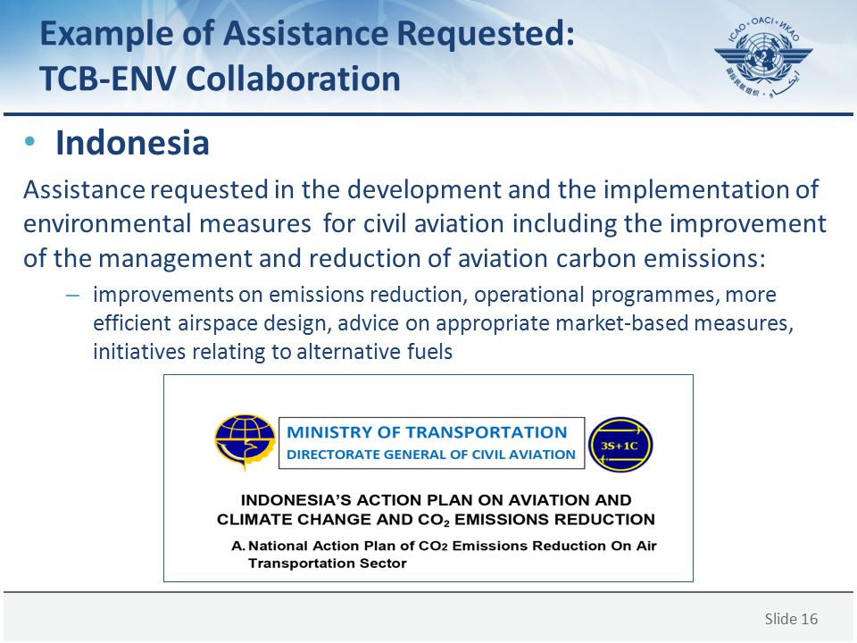 Example of Assistance Requested: TCB-ENV Collaboration