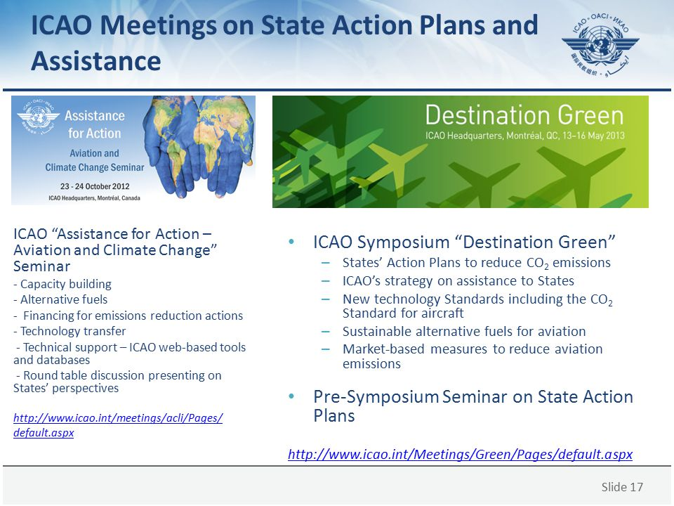 ICAO Meetings on State Action Plans and Assistance