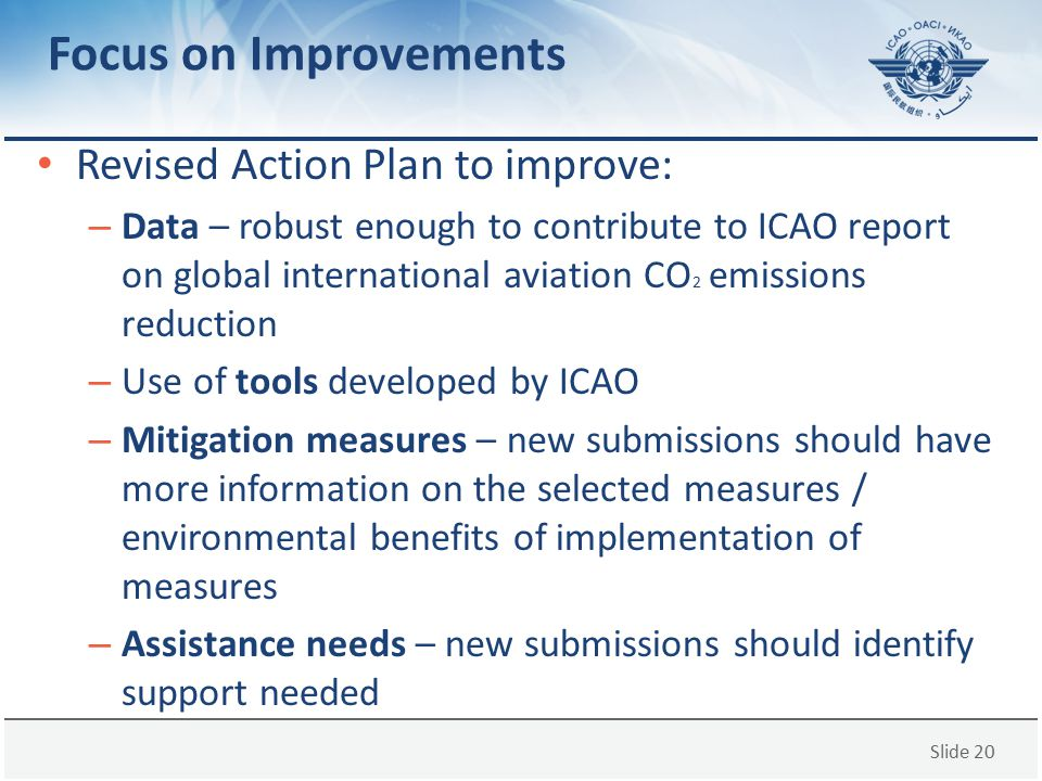 Focus on Improvements Revised Action Plan to improve: