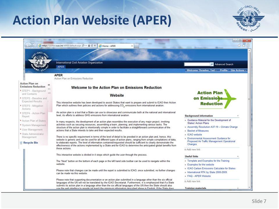 Action Plan Website (APER)