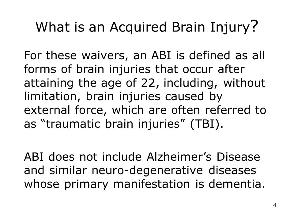 What is an Acquired Brain Injury