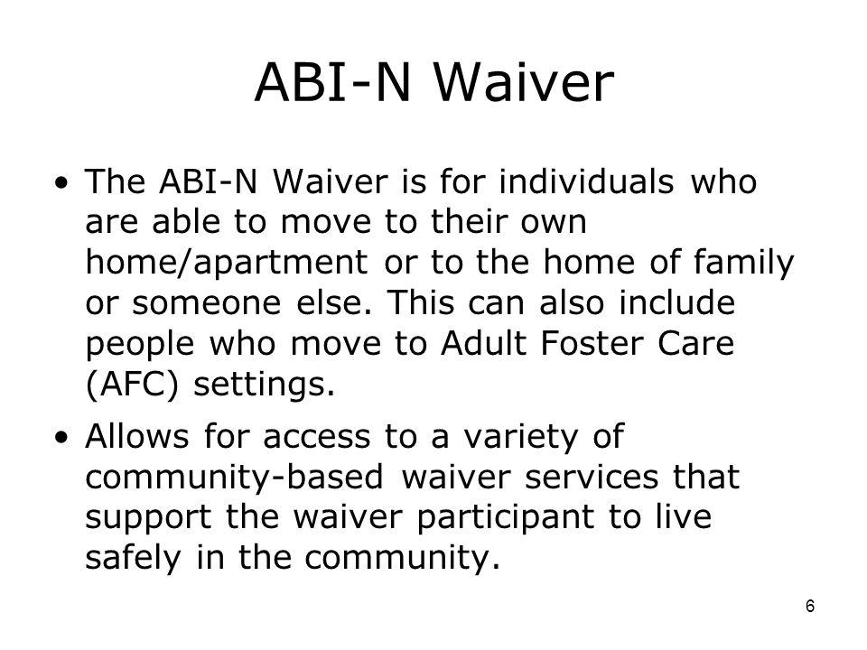 ABI-N Waiver