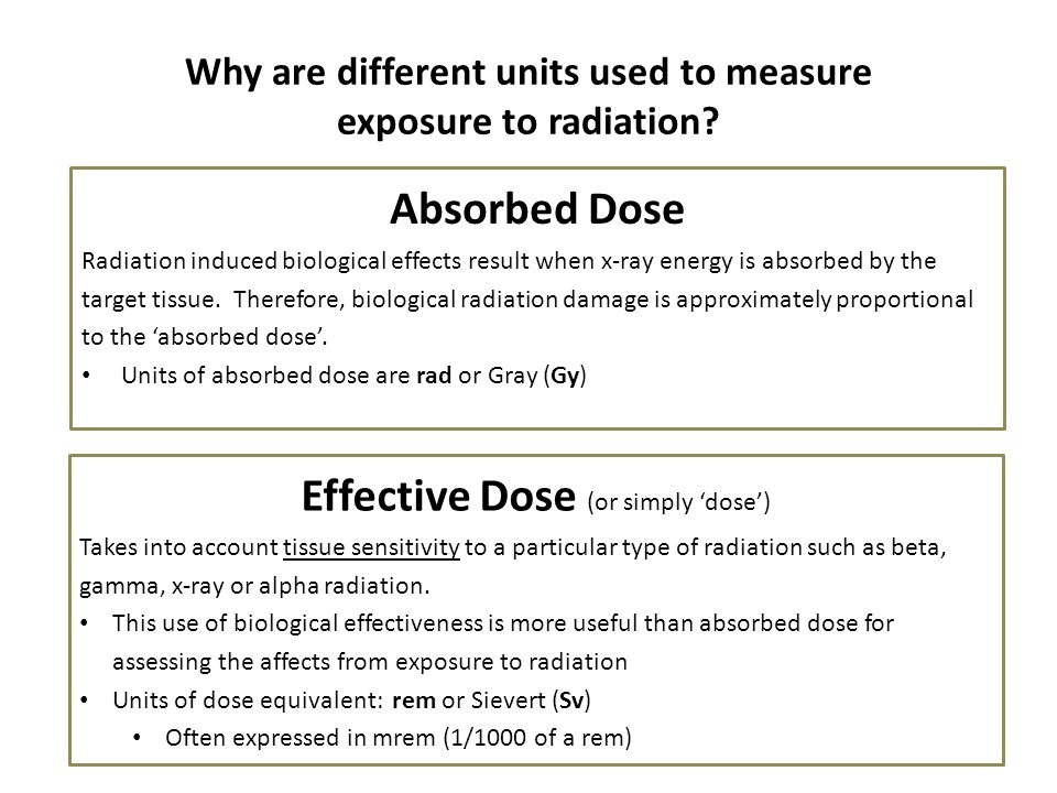 Why are different units used to measure exposure to radiation