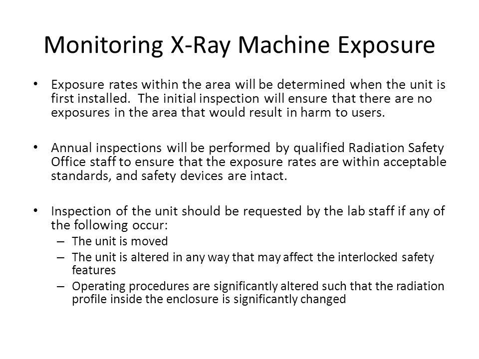 Monitoring X-Ray Machine Exposure