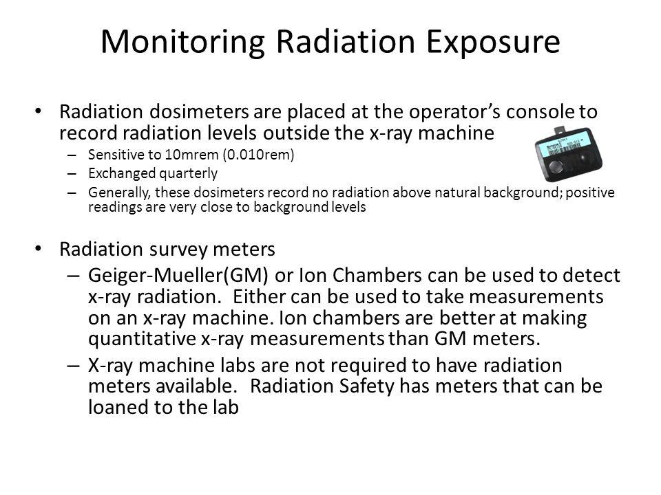 Monitoring Radiation Exposure
