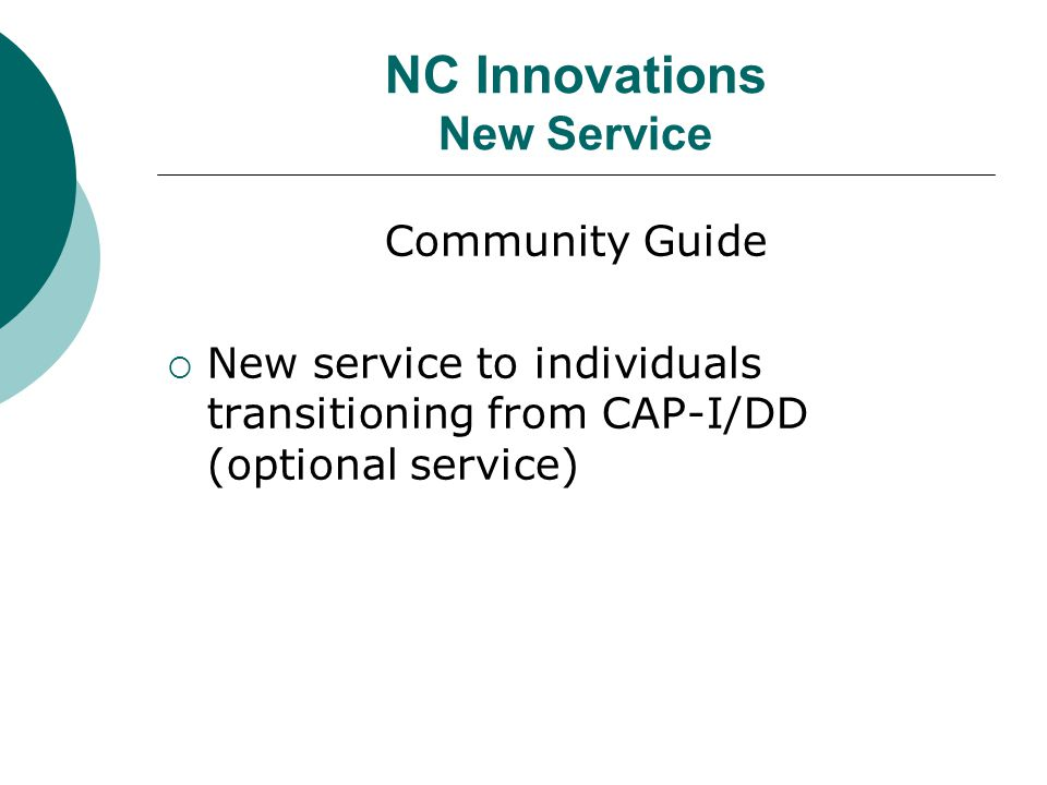 NC Innovations New Service