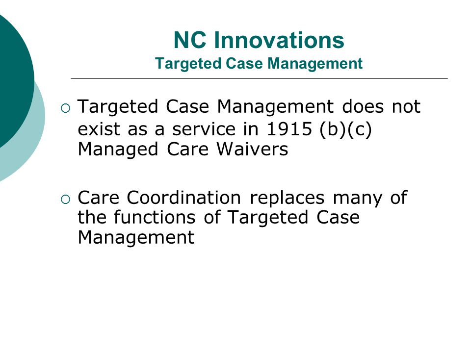 NC Innovations Targeted Case Management
