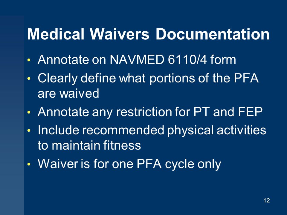 Medical Waivers Documentation
