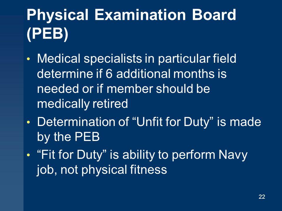 Physical Examination Board (PEB)