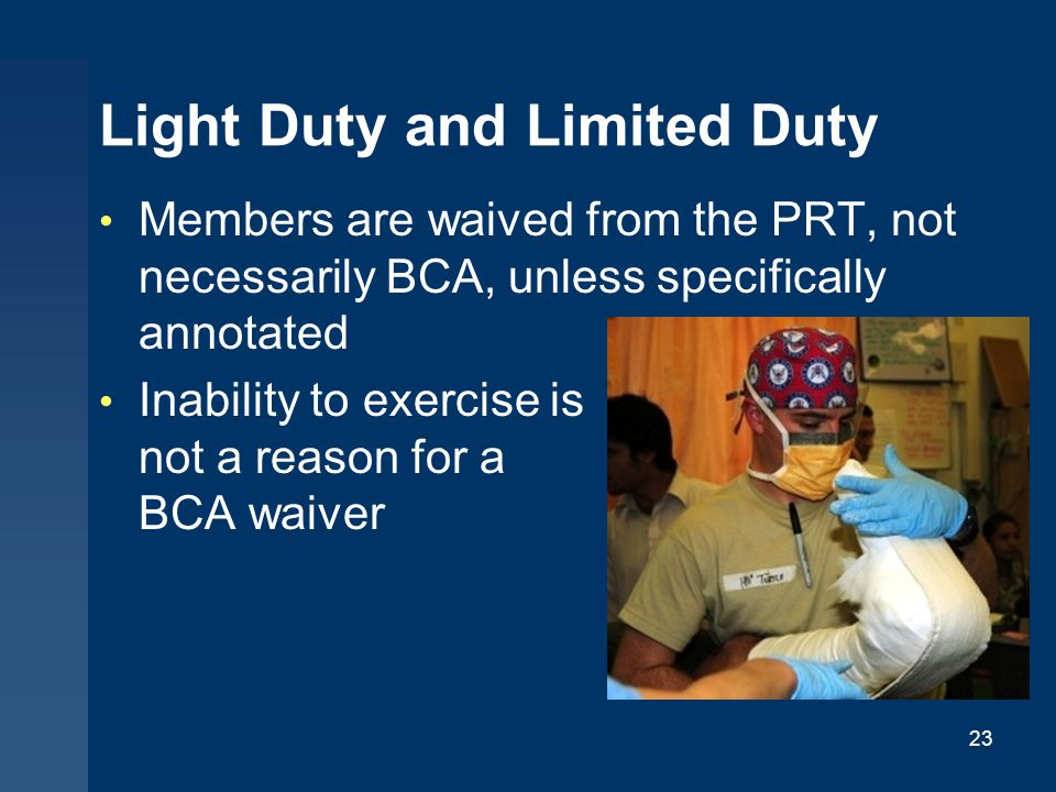 Light Duty and Limited Duty
